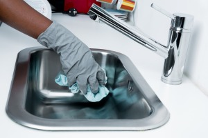 Image of cleaning a sink